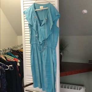 Donna Morgan Aqua Silk Dress